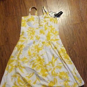 Sundress yellow/white
